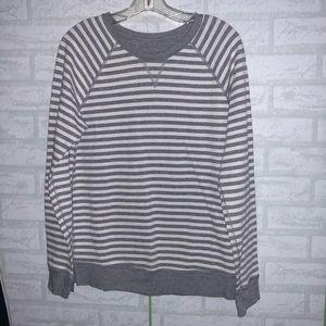 Lululemon reversable striped sweatshirt sz 12 B4